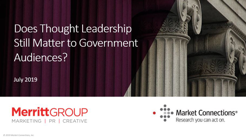Does Thought Leadership Still Matter to Government Audiences?