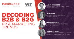 WiT B2B & B2G Marketing Challenges